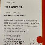Urkunde für Till Oesterwind